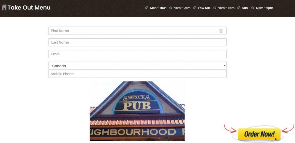 online order menu