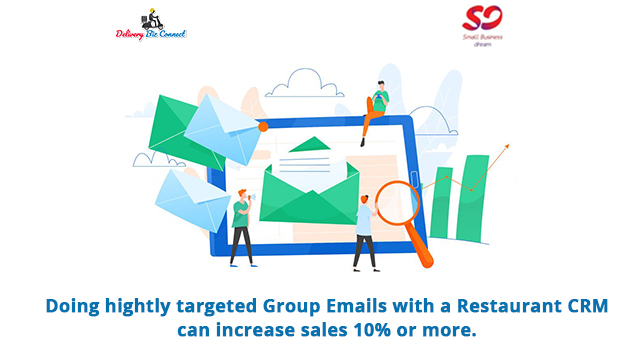 Doing hightly targeted Group Emails with a Restaurant CRM can increase sales 10% or more.