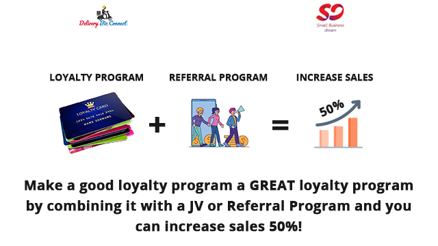 Make a good loyalty program a GREAT loyalty program by combining it with a JV or Referral Program and you can increase sales 50%!