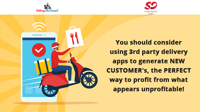 You should consider using 3rd party delivery apps to generate NEW CUSTOMER's, the PERFECT way to profit from what appears unprofitable!