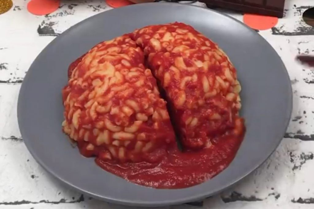 macaroni brain halloween idea